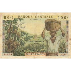 Cameroun - Pick 12b - Série K.20 - 1'000 francs - 1962 - Etat : TB