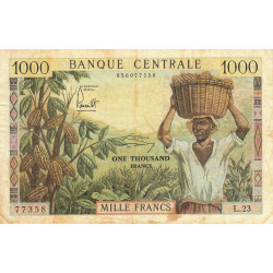 Cameroun - Pick 12b - 1'000 francs - Série L.23 - 1962 - Etat : TB+