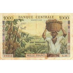 Cameroun - Pick 12b - Série L.23 - 1'000 francs - 1962 - Etat : TB+