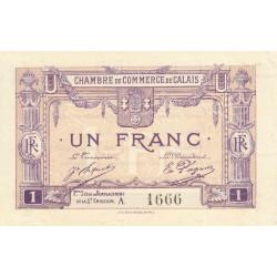 Calais - Pirot 36-37 - 1 franc - Série A - Remplacement 5e émission (1919) - Etat : SPL