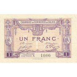 Calais - Pirot 36-37 - Série A - 1 franc - 1919 - Etat : SPL