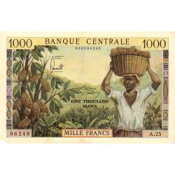 Cameroun - Pick 12b - 1'000 francs - Série A.25 - 1962 - Etat : TTB+
