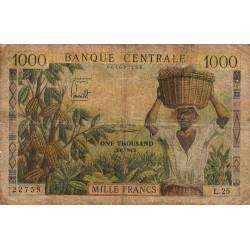 Cameroun - Pick 12b - Série L.25 - 1'000 francs - 1962 - Etat : AB