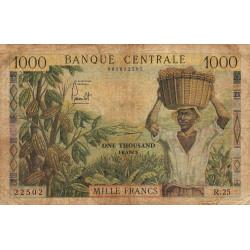 Cameroun - Pick 12b - 1'000 francs - Série R.25 - 1962 - Etat : B-
