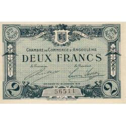 Angoulême - Pirot 9-18 - 2 francs - 3ème série - 15/01/1915 - Etat : SPL