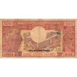 Cameroun - Pick 15d - 500 francs - 01/01/1983 - Etat : B+ à TB-
