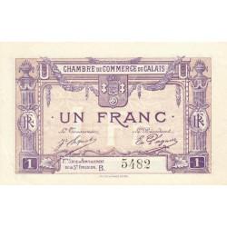 Calais - Pirot 36-37 - 1 franc - Série B - Remplacement 5e émission (1919) - Etat : SUP