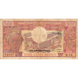 Cameroun - Pick 15d_2 - 500 francs - Série M.16 - 01/01/1983 - Etat : B+ à TB-
