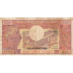 Cameroun - Pick 15d_2 - 500 francs - Série E.17 - 01/01/1983 - Etat : B+ à TB-