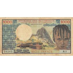 Cameroun - Pick 16a - 1'000 francs - Série R.1 - 1974 - Etat : TB