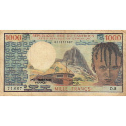 Cameroun - Pick 16a - 1'000 francs - Série O.5 - 1974 - Etat : TB