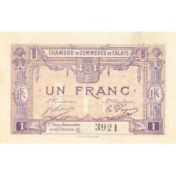 Calais - Pirot 36-37 - 1 franc - Série C - Remplacement 5e émission (1919) - Etat : SUP