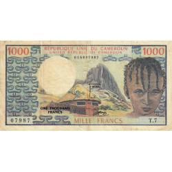 Cameroun - Pick 16a - 1'000 francs - Série T.7 - 1974 - Etat : TB