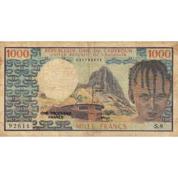 Cameroun - Pick 16a - 1'000 francs - 1974 - Etat : B+ à TB-