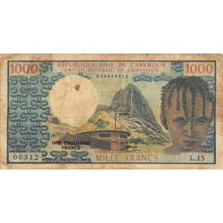 Cameroun - Pick 16a - 1'000 francs - 1974 - Etat : B+