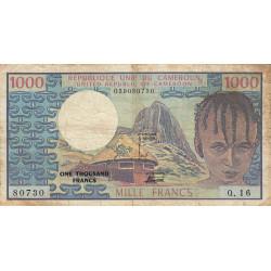 Cameroun - Pick 16b - 1'000 francs - Série Q.16 - 1978 - Etat : TB
