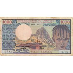 Cameroun - Pick 16b - 1'000 francs - Série W.16 (billet de remplacement) - 1978 - Etat : TB