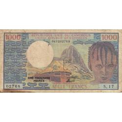 Cameroun - Pick 16b - 1'000 francs - Série N.17 - 1978 - Etat : B+ à TB-