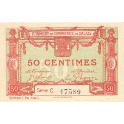Calais - Pirot 36-40 - 50 centimes - Série C - 7e émission (1919) - Etat : SPL