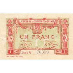 Calais - Pirot 36-41 - 1 franc - Série A - 7e émission (1919) - Etat : TTB