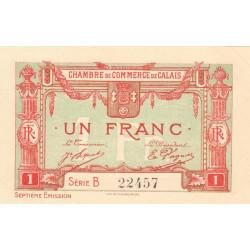 Calais - Pirot 36-41c - Série B - 1 franc - 1919 - Etat : SPL