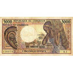 Cameroun - Pick 22_1 - 5'000 francs - Série X.1 - 1983 - Etat : TB