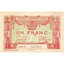 Calais - Pirot 36-41 - 1 franc - Série C - 7e émission (1919) - Etat : SUP