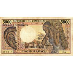 Cameroun - Pick 22_1 - 5'000 francs - Série D.2 - 1983 - Etat : TB