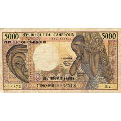 Cameroun - Pick 22_1 - 5'000 francs - Série H.2 - 1983 - Etat : TB-