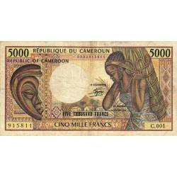 Cameroun - Pick 22_2 - 5'000 francs - Série C.001 - 1984 - Etat : TB-