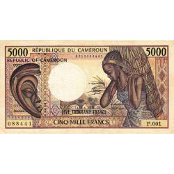 Cameroun - Pick 22_2 - 5'000 francs - 1984 - Etat : TB+