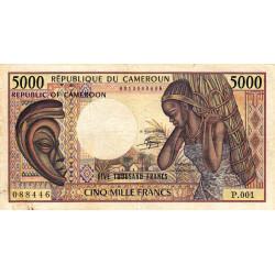 Cameroun - Pick 22_2 - 5'000 francs - 1984 - Etat : B