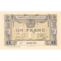 Calais - Pirot 36-43 - 1 franc - 1920 - Etat : SUP