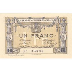 Calais - Pirot 36-43 - 1 franc - 8e émission (1920) - Etat : SUP