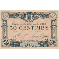 Angoulême - Pirot 9-20 - 50 centimes - 4ème série - 15/01/1915 - Etat : SPL