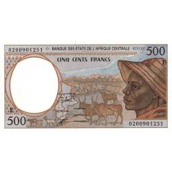 Cameroun - Afrique Centrale - Pick 201Eh - 500 francs - 2002 - Etat : NEUF