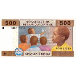 Cameroun - Afrique Centrale - P 206U-1 - 500 francs - 2002 - Etat : NEUF