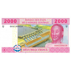 Cameroun - Afrique Centrale - Pick 208Ua - 2'000 francs - 2002 - Etat : NEUF