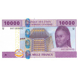 Cameroun - Afrique Centrale - Pick 210Ua - 10'000 francs - 2002 - Etat : NEUF