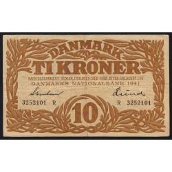 Danemark - Pick 31j - 10 kroner - Série R - 1941 - Etat : TTB