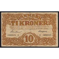 Danemark - Pick 31l - 10 kroner - Série S - 1942 - Etat : TB+