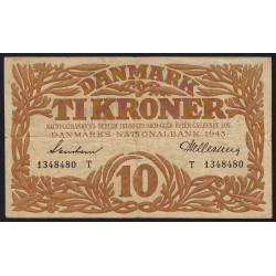 Danemark - Pick 31n - 10 kroner - 1943 - Etat : TTB