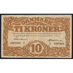 Danemark - Pick 31o - 10 kroner - 1943 - Etat : TTB