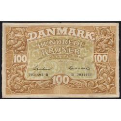 Danemark - Pick 33d - 100 kroner - 1943 - Etat : TTB