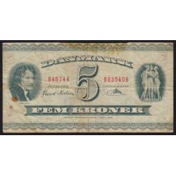 Danemark - Pick 42m - 5 kroner - Série B4 - 1957 - Etat : TB