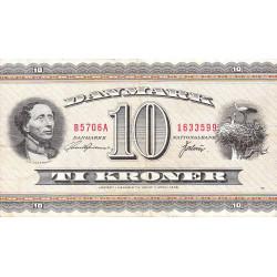 Danemark - Pick 44ae - 10 kroner - 1970 - Etat : TTB