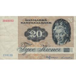 Danemark - Pick 49c - 20 kroner - 1981 - Etat : TTB