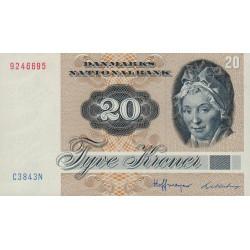 Danemark - Pick 49e - 20 kroner - 1984 - Etat : NEUF
