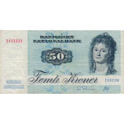 Danemark - Pick 50j - 50 kroner - Série C6 - 1990 - Etat : TB+