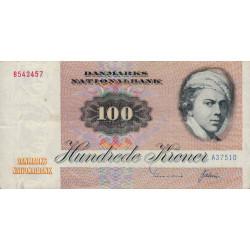 Danemark - Pick 51b - 100 kroner - 1975 - Etat : TTB